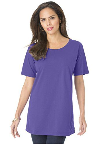 51f210bbd37 Roamans Women s Plus Size Crew Neck Ultimate Tee     Read more at the image  link.