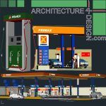 Fuel filling stations architecture design a collection of 19 gas stations designs Autocad drawings Architecture for Design