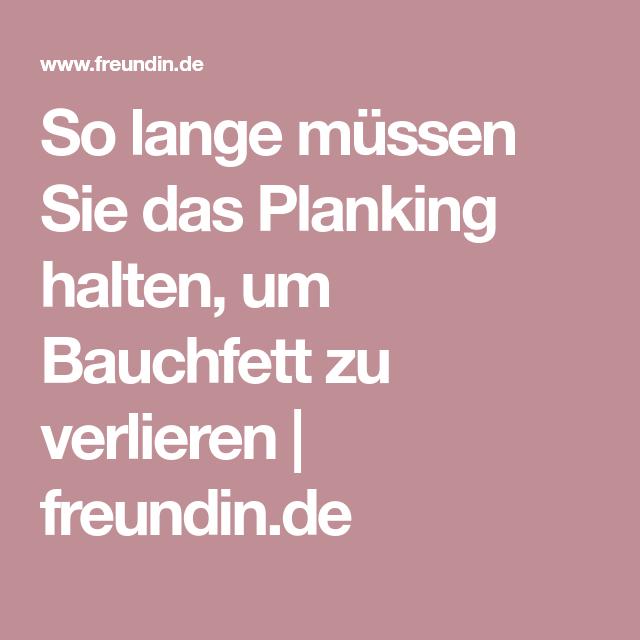 So lange müssen Sie das Planking halten, um Bauchfett zu verlieren   freundin.de