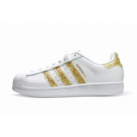 adidas superstar zwart wit goud