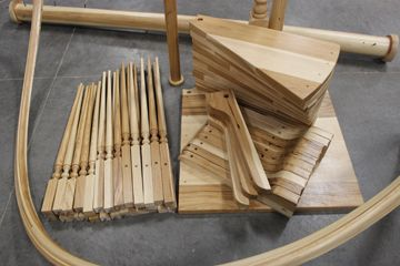 Wooden Spiral Staircase Kit Exterior stair railings wood | stairs ...