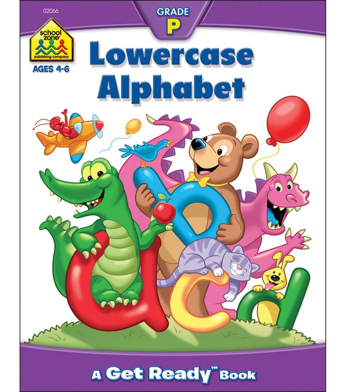 School Zone Preschool Workbooks 32 Pages Lowercase Alphabet