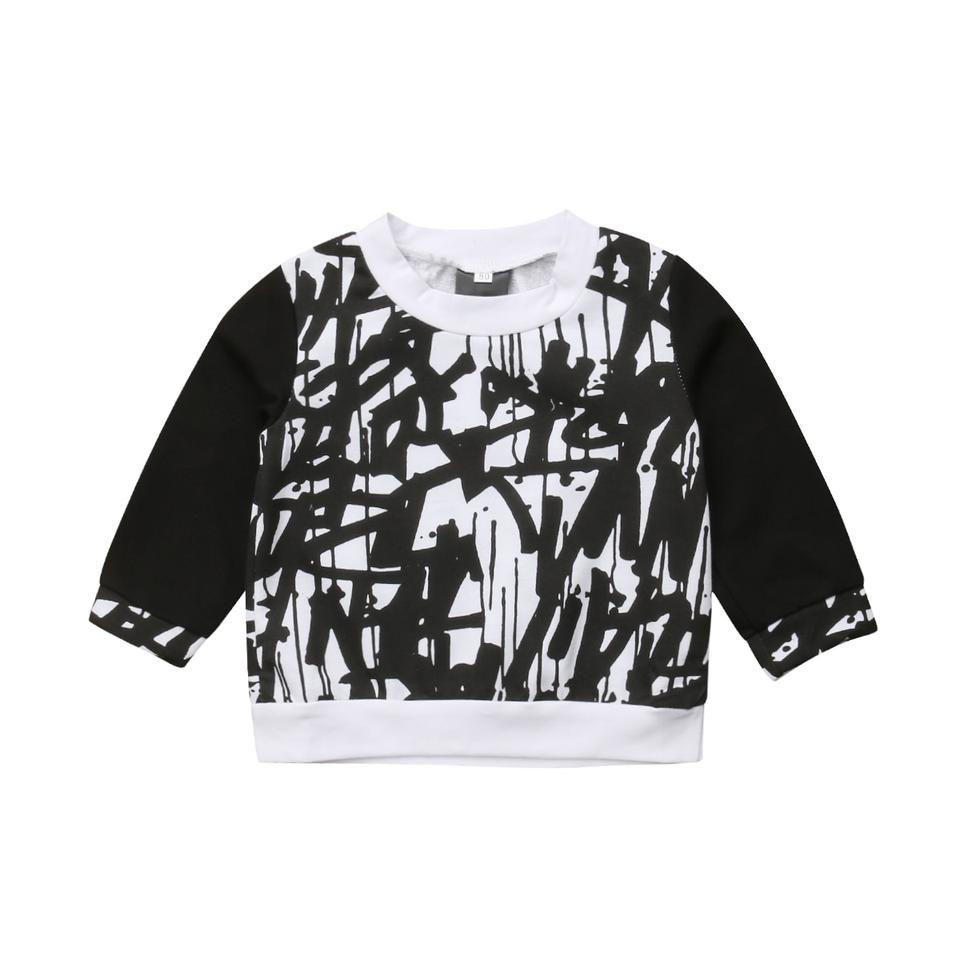 e293d4b706bdc Graffiti Sweatshirt. Cool as a cucumber graffiti sweatshirt top. Unisex,  soft and comfy, great for cooler weather. Lenny Lemons Factory, baby  fashion.