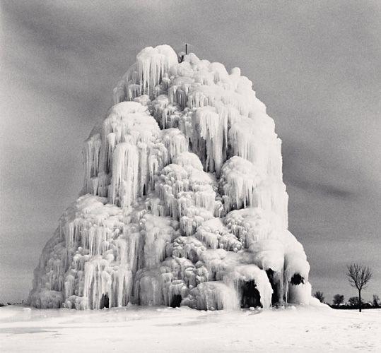 frozen fountain, belle isle, detroit, michigan -- michael kenna ...