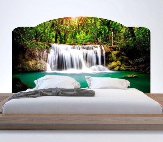 Waterfall headboard wall mural waterfall headboard by for Mural headboard