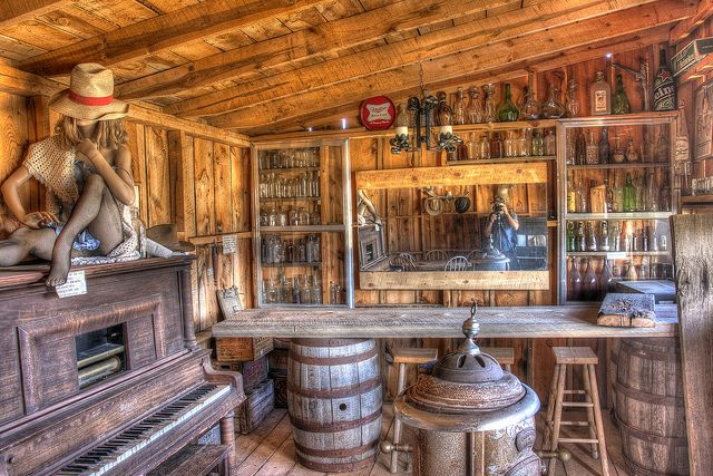 Saloon in Four Mile Old West Town