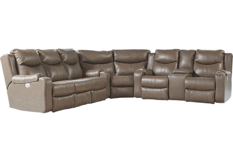 northridge gray 3 pc reclining sectional condo reclining rh pinterest com
