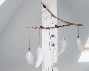 Dreamcatcher snow white von Blumentraeume auf Etsy