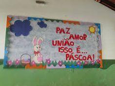 Decoração De Páscoa Para Escola Painel Com Frase Deus é Fiel