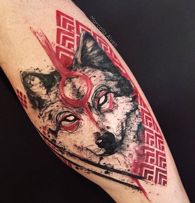 Southerncomfortoutlaw tattoos pinterest tatuajes for Red wolf tattoo