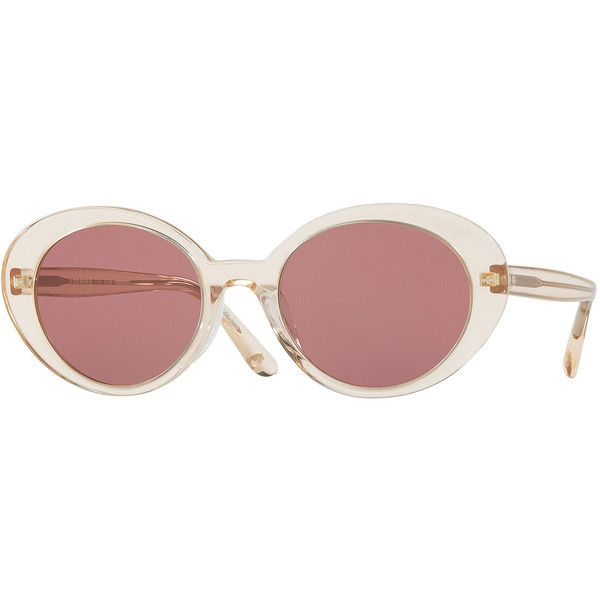 dadbb0ad5fd0 Oliver Peoples Parquet Monochromatic Oval Sunglasses (1.510 BRL) ❤ liked on Polyvore  featuring accessories