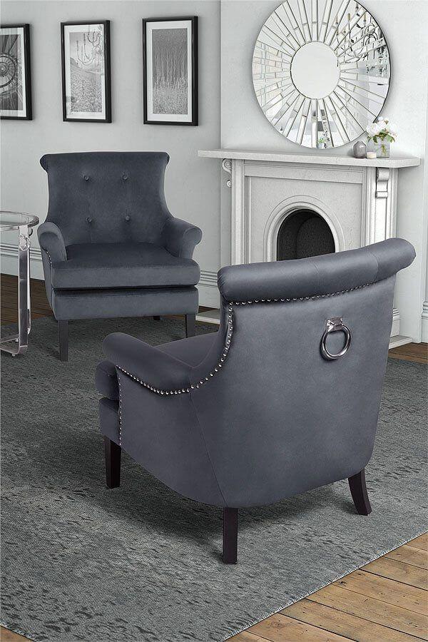 Charmant Positano Lounge Armchair / Ring Back Armchair / Velvet Armchair / My  Furniture