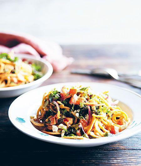 Spicy tahini sweet potato pasta the raw food kitchen book food forumfinder Gallery