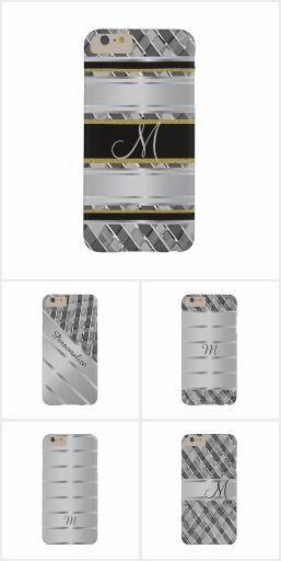 Stylish Silver Stripes iPhone 6 Plus Cases