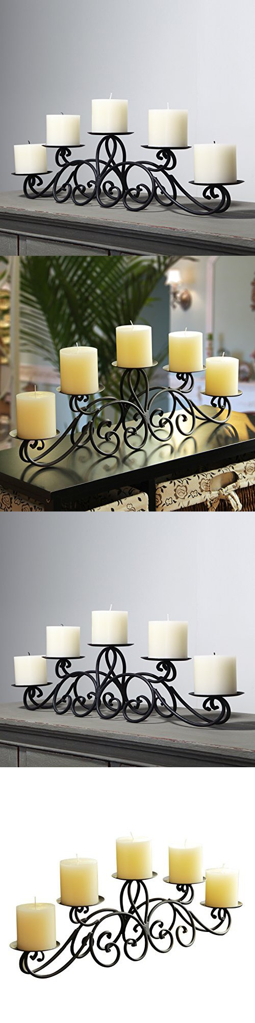 Adeco iron table desk top pyramid layout scroll design pillar