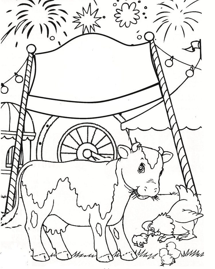 County Fair Carnival Coloring Pages Coloring Pages Detailed
