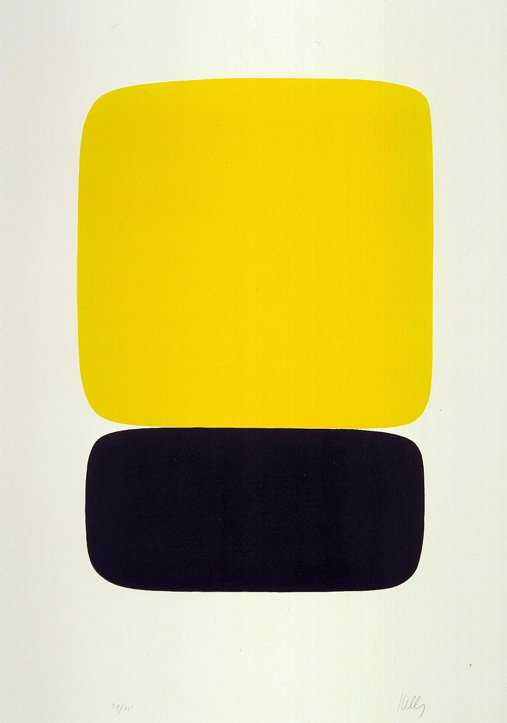 Ellsworth Kelly (American, b. 1923), Yellow over Black, from Suite ...