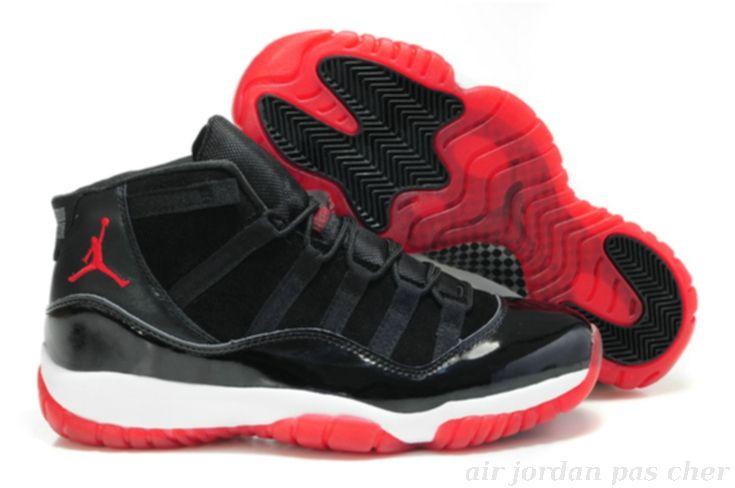 les fabricants vendent basket air jordan pour homme noir rouge en vente