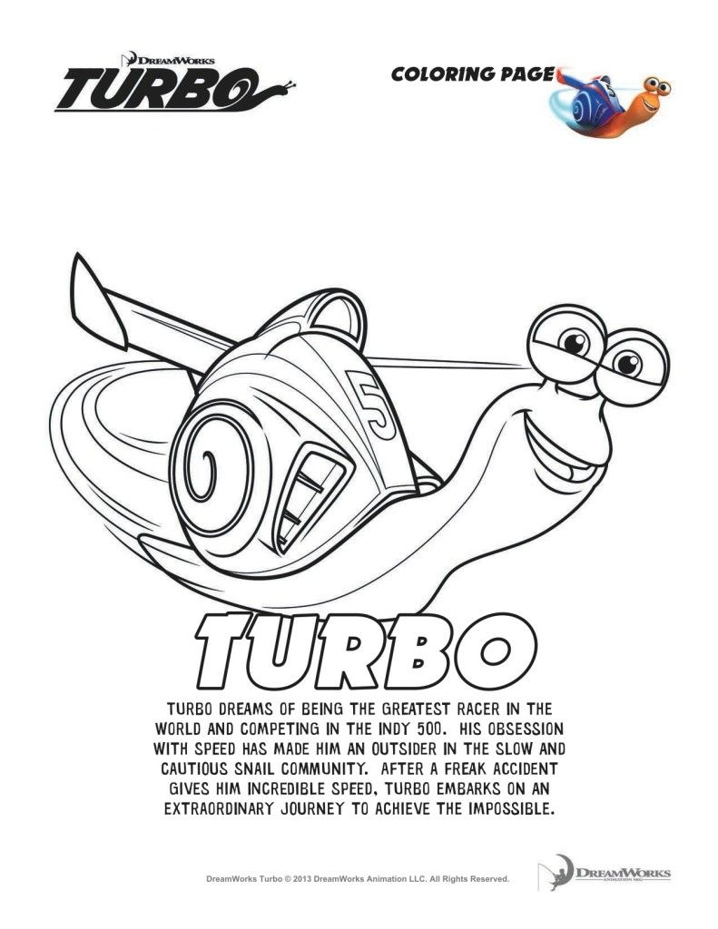 Turbofastfun Free Turbo Movie Printable Coloring Pages Plus Turbo Now Coloring Pages For Kids Coloring Pages Printable Coloring Pages