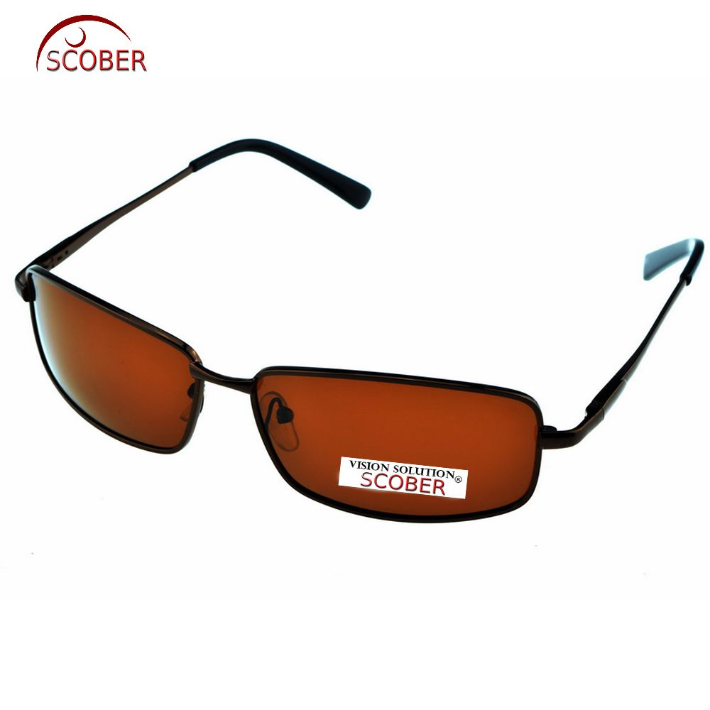 5ed0fb13dff SCOBER   Rectangular Brown Polarized Sunglasses Hd Polaroid Lens Eyeglasses  Spring Hinge Driving Vintage Male