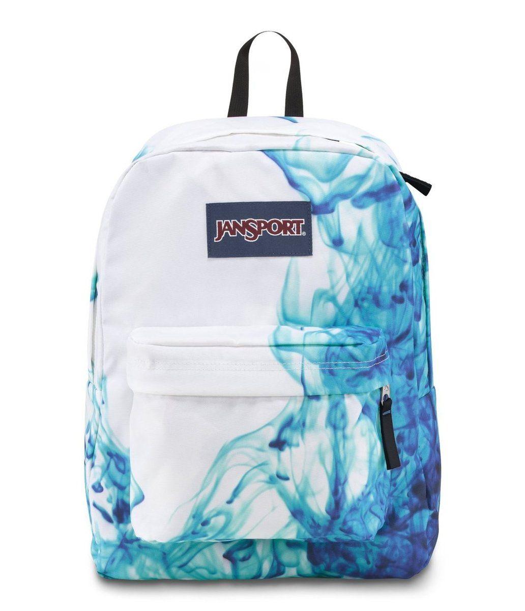 JANSPORT SUPERBREAK BACKPACK SCHOOL BAG - Multi/Blue Drip Dye ...