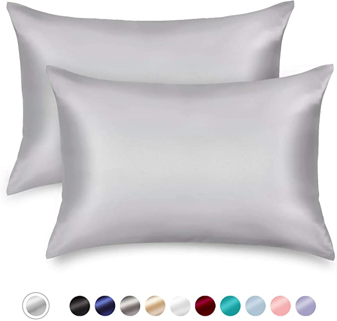 Amazon Com Zamat Silky Satin Pillowcases Set Of 2 Luxury Soft Pillow Case For Hair And Skin Wrinkle Fade Resistan In 2020 Satin Pillowcase Soft Pillows Best Pillow