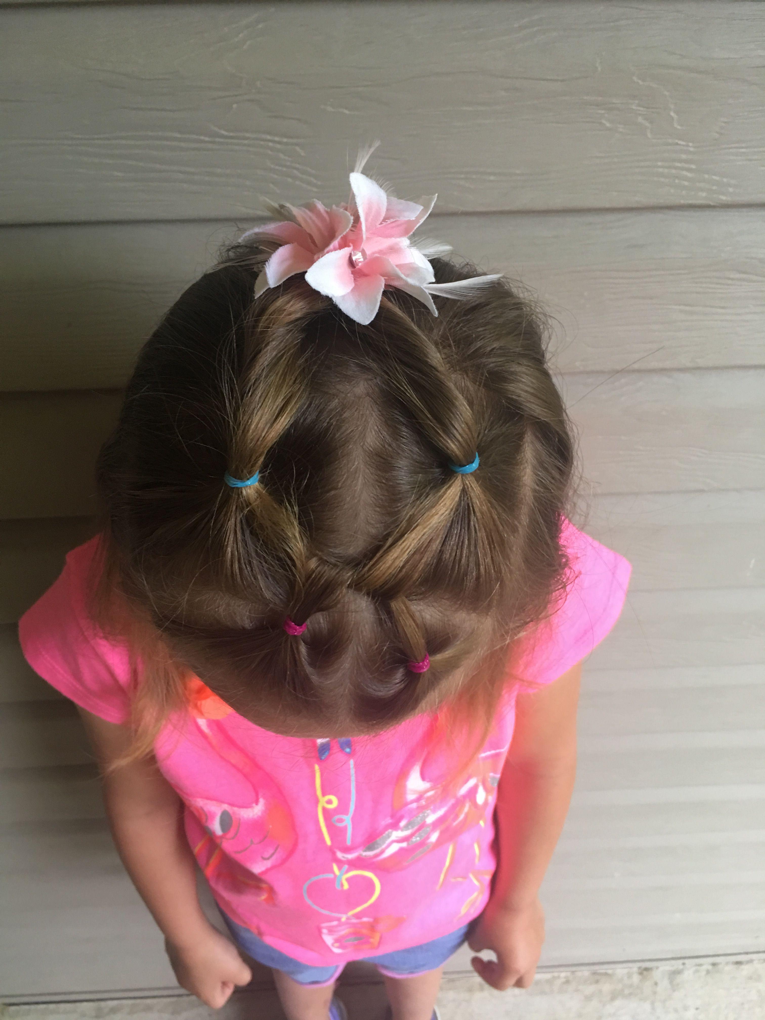 princess hairstyle school hair preschool kindergarten little girl