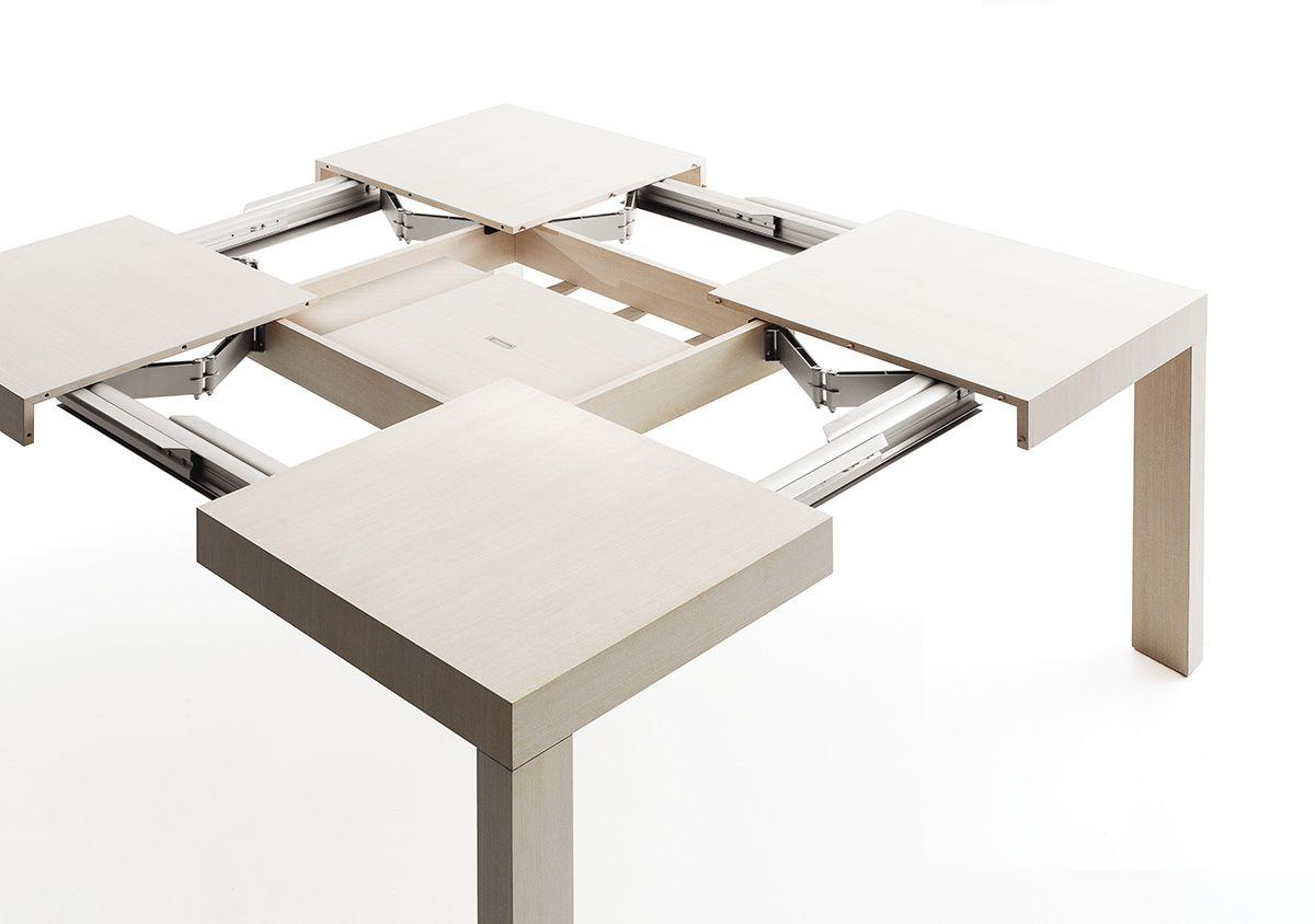 Tavolo Allungabile Con Tecnologia Bauline Quartetto Sistema Di Apertura Tavolo Allungabile Tavolo Quadrato Allungabile Tavoli Quadrati