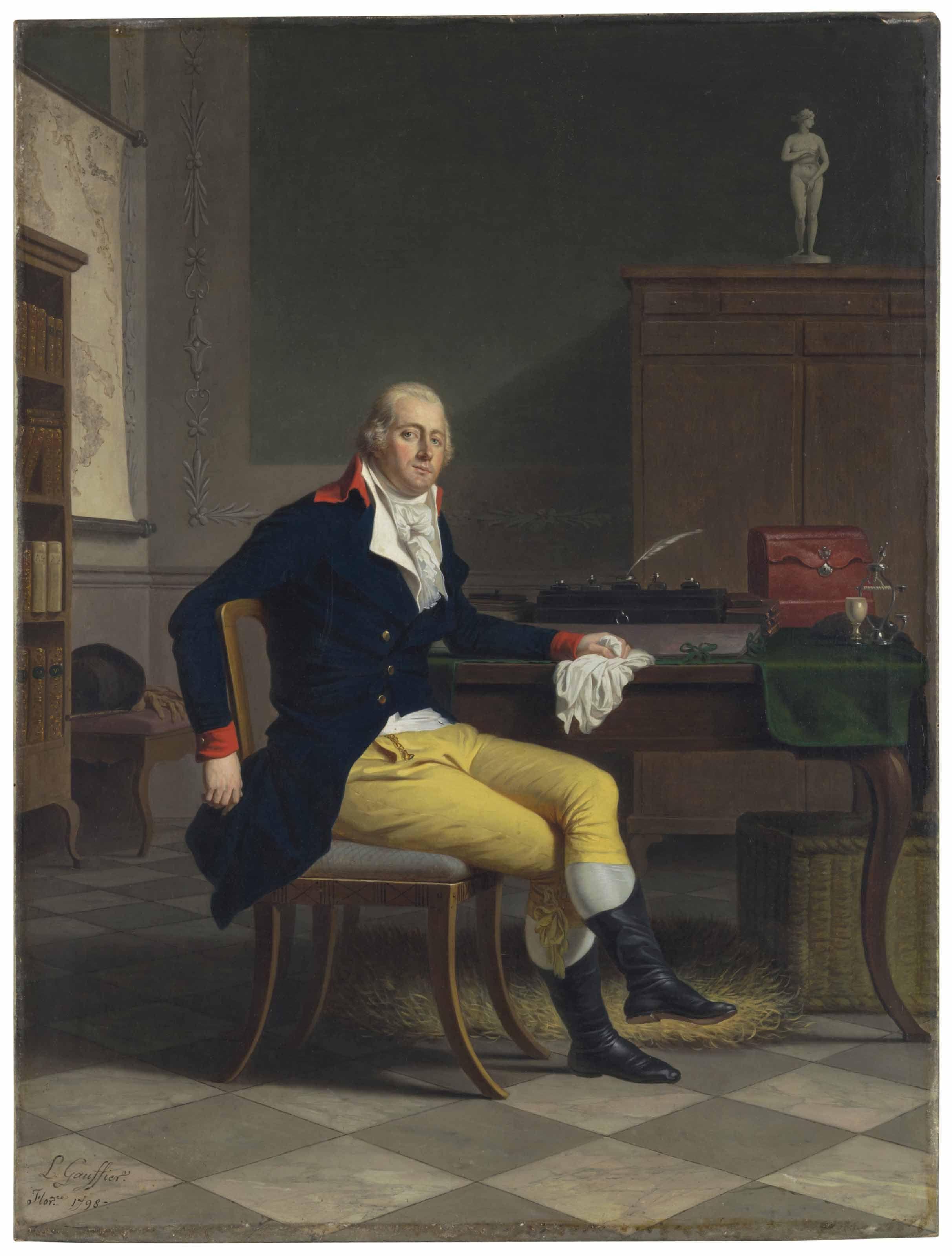 Louis Gauffier Poitiers 1762 1801 Livorno Portrait Of Ferdinando Nerli 1770 1829 Seated In An Interior Full Le Portrait Contemporary Portrait Guy Pictures