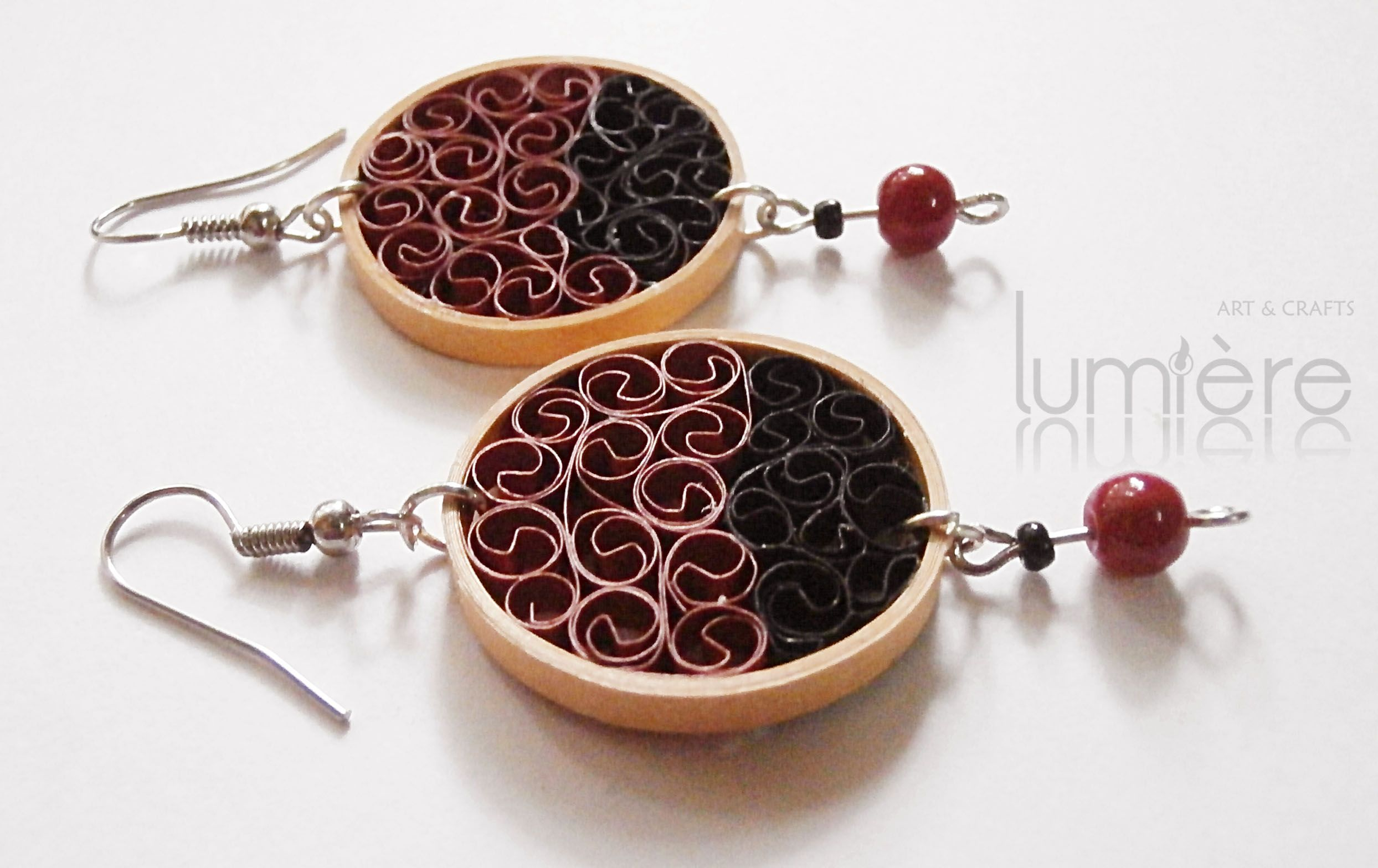 Handmade Quilling Earrings © Lumiere ~ Art & Crafts
