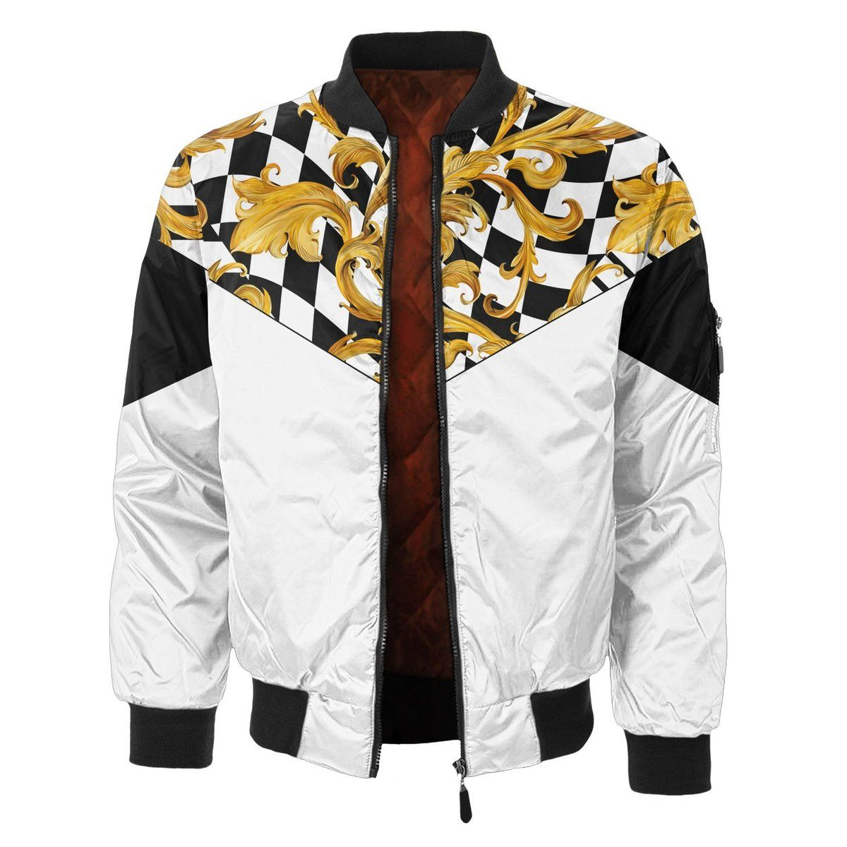 Add A Bold New Look To Your Wardrobe With Our Golden Life Bomber Jacket Handcrafted For Fully Aligned Edge To Edge Jackets Bomber Jacket Classic Bomber Jacket [ 1200 x 1200 Pixel ]
