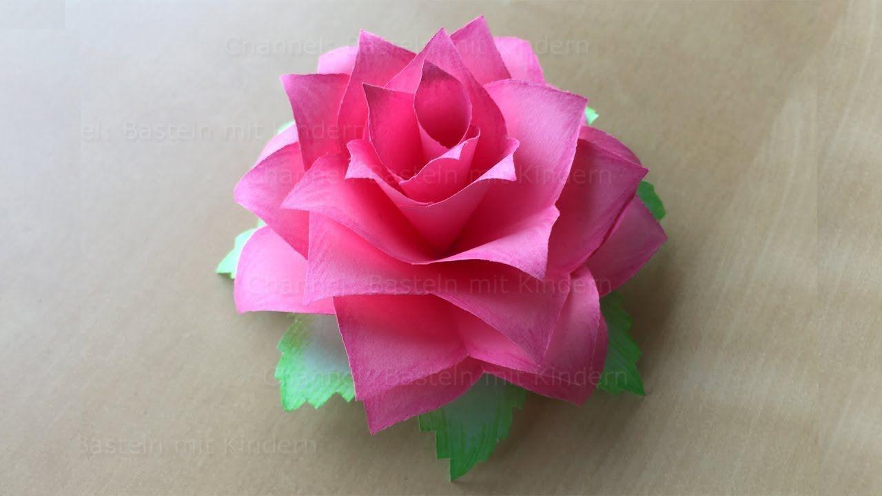 Faire Une Rose En Papier Fleur En Papier Bricolage Facile A