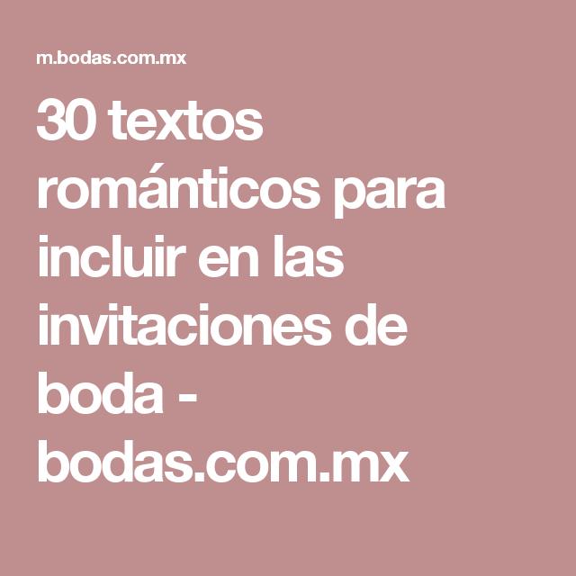 30 Textos Para Invitaciones De Boda Romanticismo Que Se Contagia
