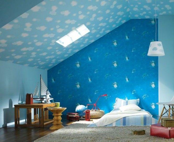 Ocean Blue Bedrooms For Girls | Ocean Blue Bedroom Wallpaper Ideas For  Girls Wooden Table Grey