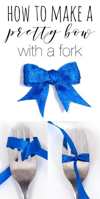 How To Make a Bow With a Fork — Doodle and Stitch