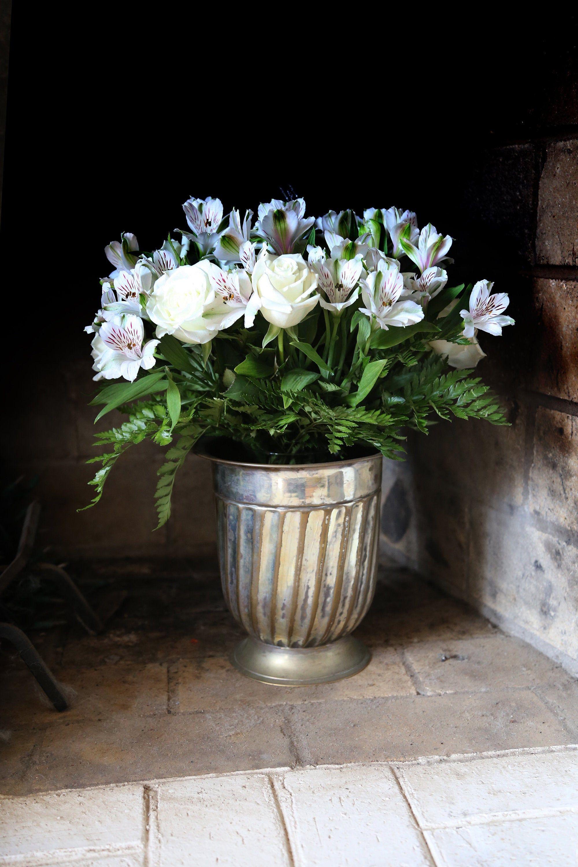 Vintage Vase Electroplated Nickel Silver Flower Vase Tarnished Wedding Centerpiece Ice Bucket Trophy Dining Ta Vintage Vases Flower Vases Nickel Silver