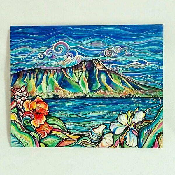 diamond head wonder-aluminum print | hawaiian art | pinterest ...