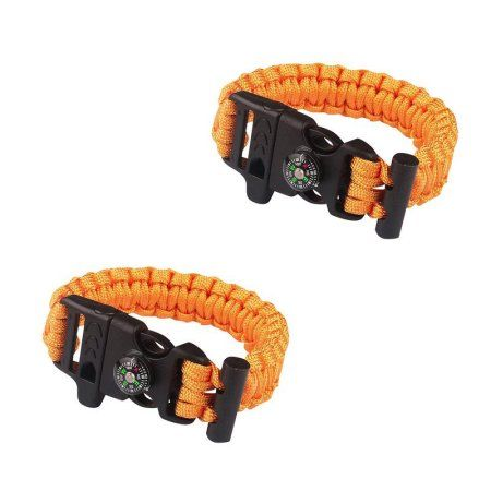 Sport Force Survival Bracelet with Compass/Whistle Buckle-2