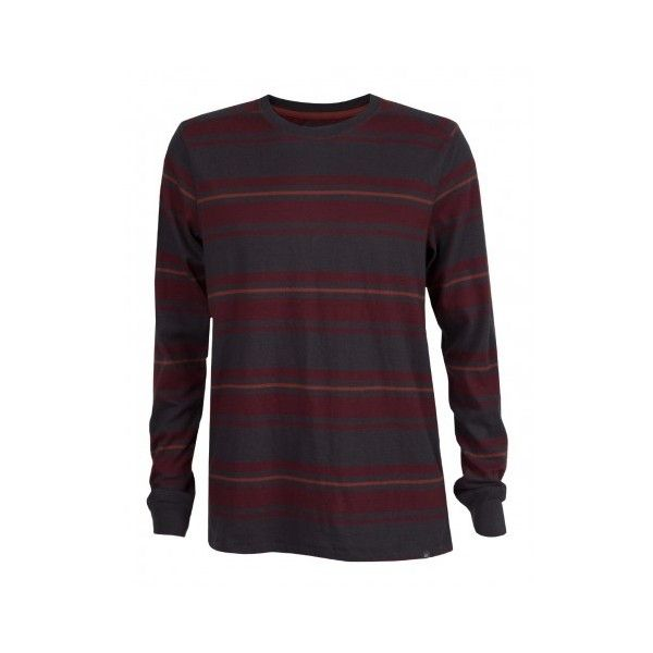 Quiksilver Snit Stripe Mens Sweater (200 BRL) ❤ liked on Polyvore featuring mens, men's clothing and men's sweaters