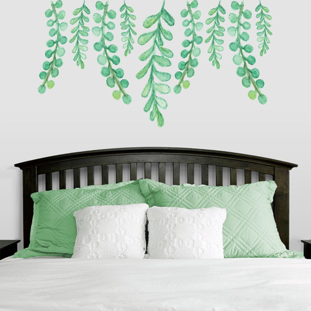 hanging eucalyptus printed wall decals wall stickers wall decals hanging eucalyptus printed wall decal and stickers