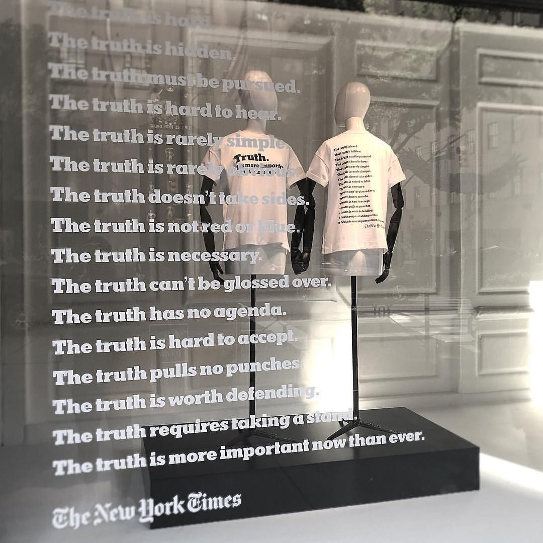 Saks fifth avenue new york city usa truth its more important now than ever the new york times photo by raylin dsuarez pinned by ton van der veer