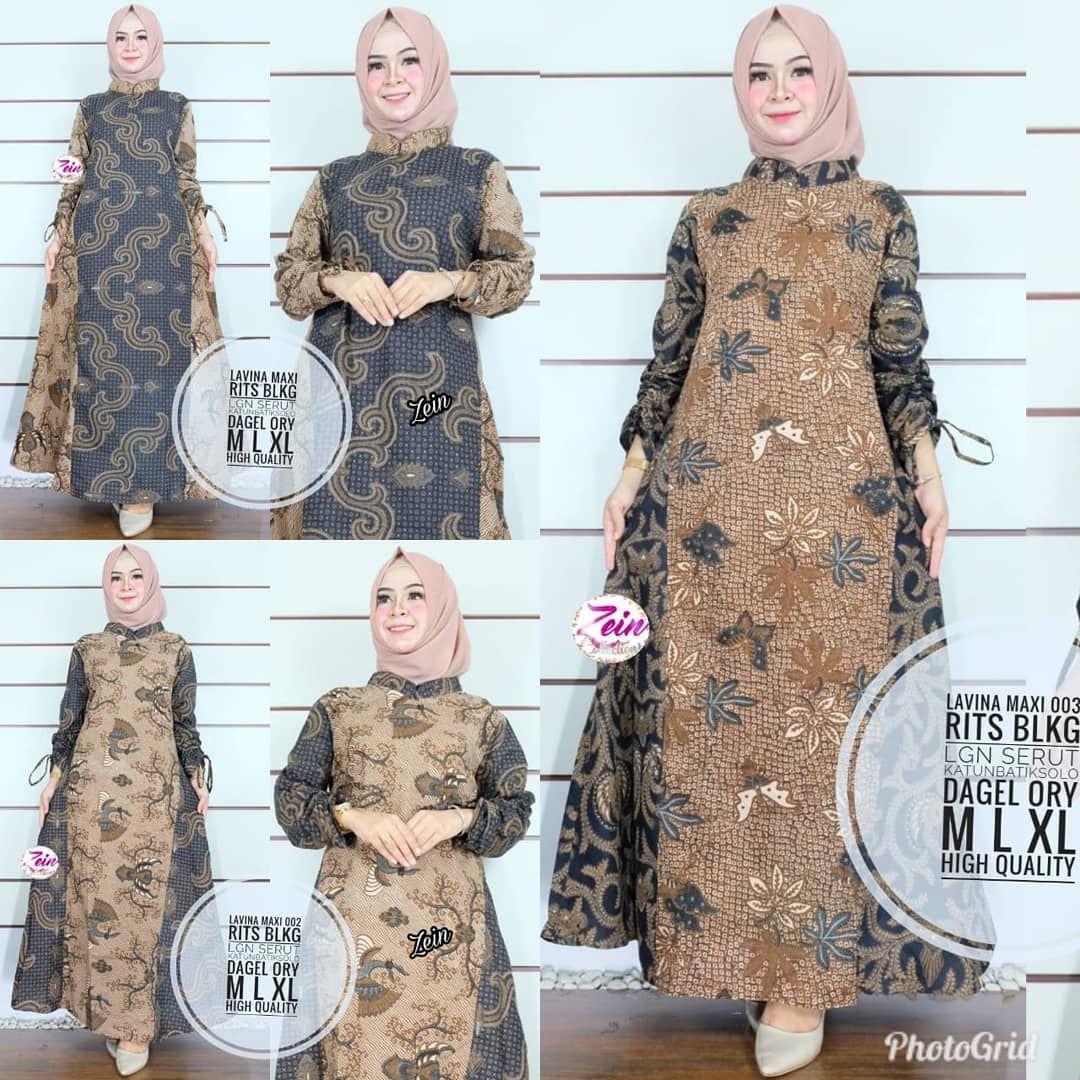 10+ Model Gamis Batik Terbaru Populer 10 – Model Baju Muslimah