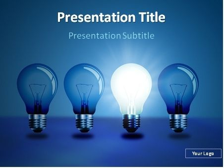 Free Idea Light Bulbs In A Row Powerpoint Template This