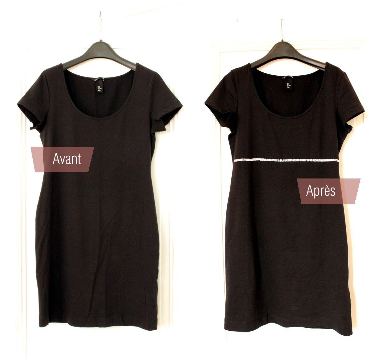 3af3a781acd avant - après customisation d une petite robe noire