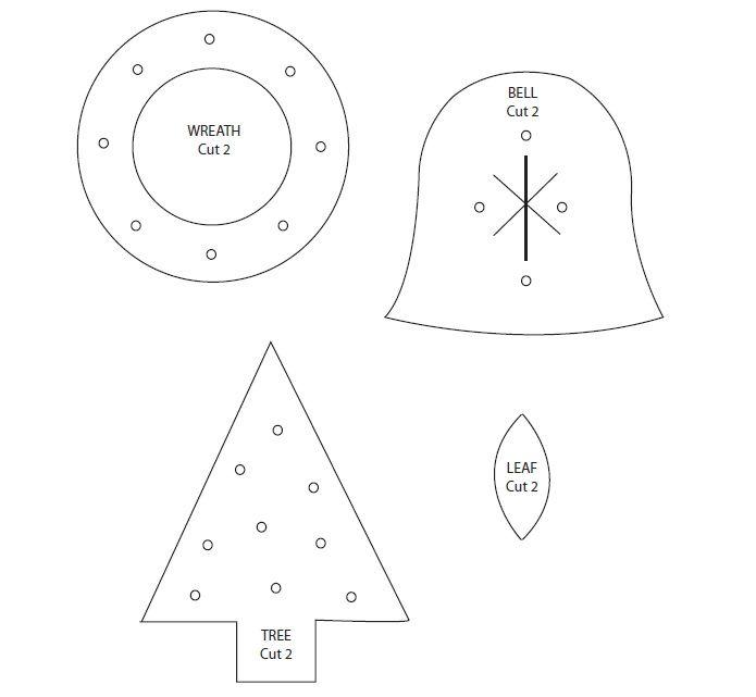 Adornos con fieltro para el arbol de Navidad « Ideas \ Consejos