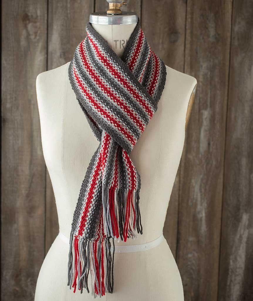 Striped Linen Stitch Scarf – Churchmouse Yarns & Teas | Knitting ...