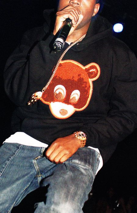 Kanye West Wearing Dropout Bear Hoodie Style In 2019 Kanye West