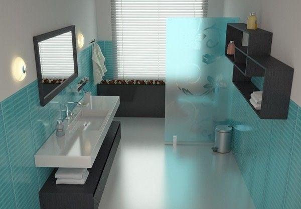 salle de bains turquoise - Recherche Google Salle de bains enfants