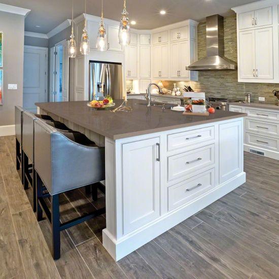 Best Fossil Gray Quartz Kitchen Backsplash Inspiration 400 x 300