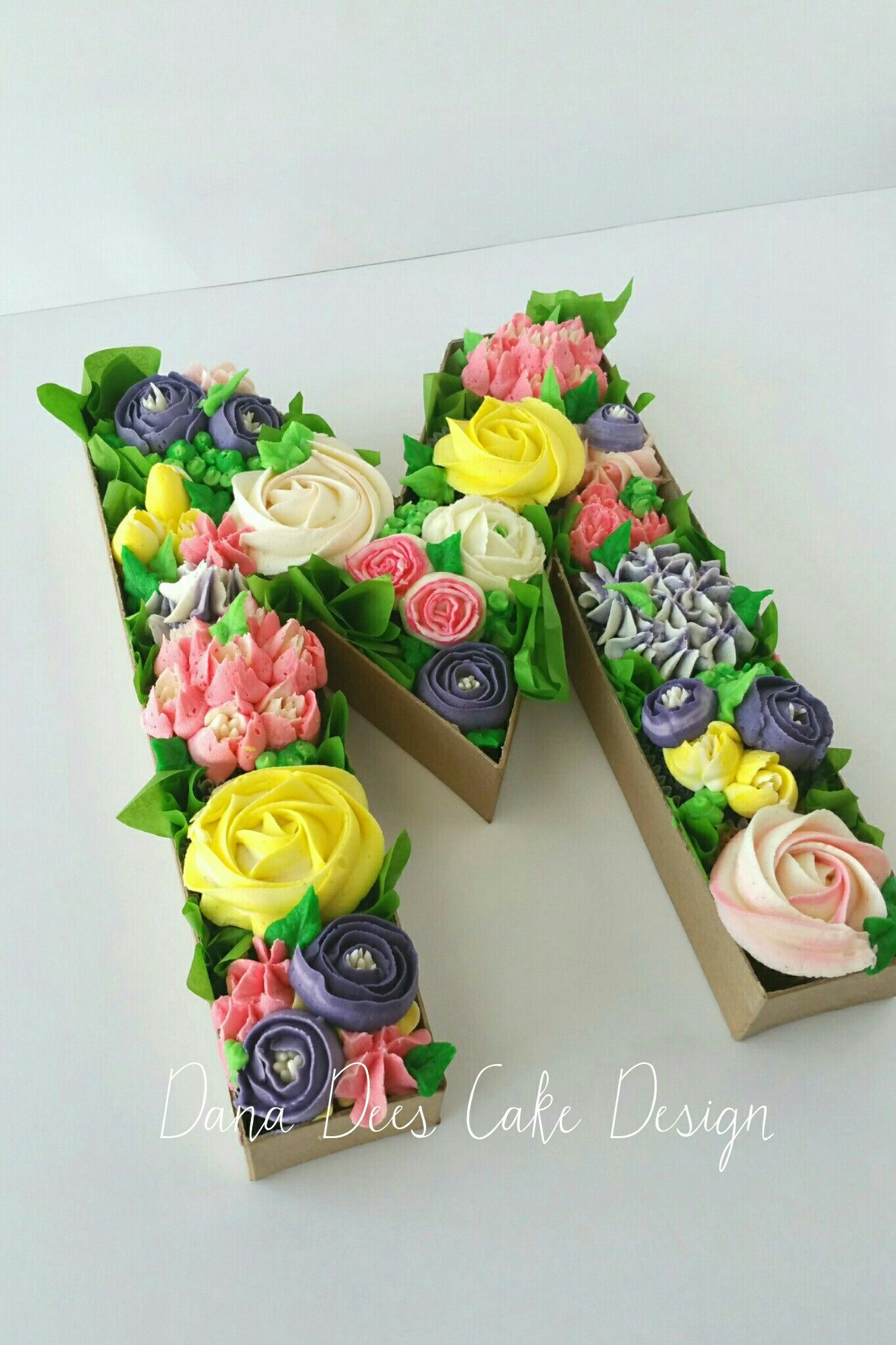 Mother S Day Monogram Cupcake Bouquet Box Monogram Cupcakes Mothers Day Cupcakes Baby
